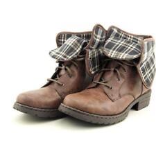 Botas de mujer de tacón medio (2,5-7,5 cm) de color principal marrón talla 41