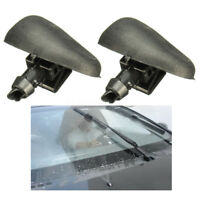 2x Car Front Windscreen Washer Jets Jet Nozzle Spray For Peugeot 206 Citroen C2