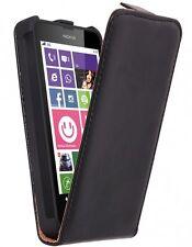 pour Nokia Lumia 640 LTE / LTE Dual Etui Housse Vertical Cuir synthétique Noir