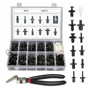 350pcs Auto Car Push Pin Rivet Trim Clip Panel Moulding Retainer + Removal Tool