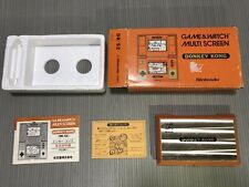 NINTENDO GAME & WATCH DONKEY KONG DK-52 VERY GOOD WORKING BOX & PAPER JAPAN 1982