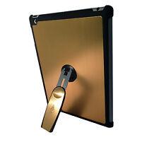 Ipad 3 De Oro de calidad de aluminio duro posterior Funda Con 360 soporte de rotación