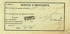Z21474-RICEVUTA D' IMPOSTAZIONE, MANTOVA-VIENNA, 1863
