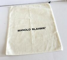 Manolo Blahnik Ivory with Black Type Dust Bag- WOW