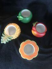 fruit splash partylite candle holders Set of 4, P7149 Nib, Still In Plastic
