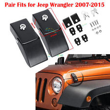 Steel Locking Hood Lock Latches Fit Jeep Wrangler JK & Unlimited  2007-2016