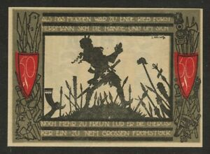 GERMANY NOTGELD 50 PFENNIG DETMOLD 1920 UNC