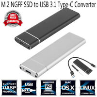 M.2 NGFF to USB 3.1 Type-C SATA SSD Converter Adapter Enclosure Case Box 6Gbps
