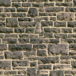 8 SHEETS stone wall 20x28cm OO Embossed textured LANDSCAPE PAPER  oo