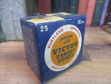 PETERS VICTOR SHOTGUN SHELL BOX TARGET LOADS PAPER EMPTY 16 GAUGE REMINGTON