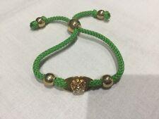 Juicy Couture Nuevo Y Genuino Verde/Oro Amistad Pulsera con el logotipo de corona
