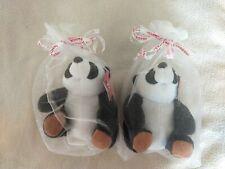 2016 Panda Express Plush Panda Bear lot set  Mascot 6.5 inches Brand New
