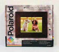 "NEW POLAROID PDF-800CD 8"" CANDLENUT DISTRESSED WOOD DIGITAL PICTURE FRAME"