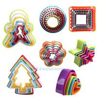 1 set Cookies Cutter Frame Cake Mould DIY Star Tree Round Heart Flower Mold TN2F