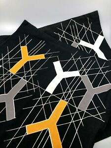 Ikea Bjornloka Figur Cushion Covers 2 Geometric Design Black Grey White Gold