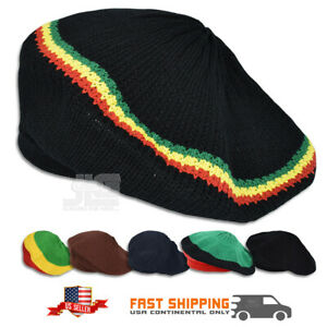 Rasta Hat Roots Dread Tam Reggae Crown Marley Reggae Dubwise Jamaica M/L Fit NEW