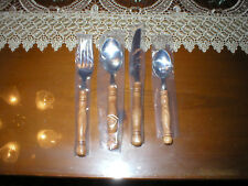 NWOT Vintage Old Homestead Set of Wood Handle Flatware 12 Placesettings 48 Pcs