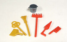 Playmobil 5300 5322 4251 Victorian mansion dollhouse Kitchen brooms tool set