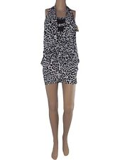 charget abito vestito corto donna maculato stretch taglia unica one size