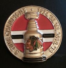 CHICAGO BLACKHAWKS 3-D NHL STANLEY CUP CHAMPIONS Lapel Pin LIMITED EDITION