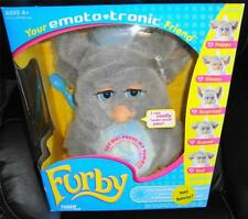 New FURBY EMOTO-TRONIC BLUE EYES 2005 GRAY & BLUE NEW In Box SUPER CUTE