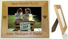 Personalized Aunt 5 x 7 Photo Picture Frame Horizontal