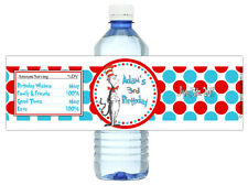 Cat in the Hat 10ct Drink Labels Birthday Party Water Bottle Labels