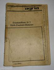 Ersatzteilliste 0/7 Agria für Hirth Zweitakt Motoren Stand 1978