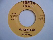 "New ListingFortura You Put Me Down Tanya Roots Reggae 7"" Hear"