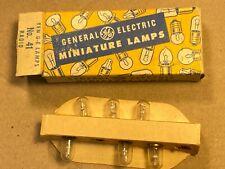 Box of 6 NOS Vintage No 41 Light Bulbs NIB Brass GE Miniature Lamps