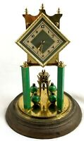 STUNNING ART DECO GERMAN ANNIVERSARY CLOCK WITH GLASS DOME