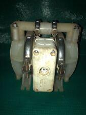 "Wilden MODEL# P1 Original Plastic Diaphragm Pump 1/2""Inlet and Outlet W/ Teflon"
