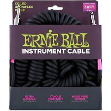 Ernie Ball Coiled Ultraflex Instrument Guitar Cable 30 foot Free US Ship Retro