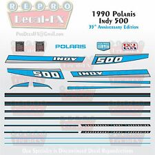 1990 Indy 500 Polaris Graphics Reproduction 23 Pc Decal Snowmobile Kit Vintage
