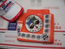"""unused 27"""" x 27"""" 1980 Lake Placid Winter Olympics scarf fabulous racoon art"""