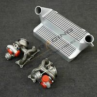 "Fit For BMW 335i 135i N54 Twin 16T upgrade Turbos&7.5"" Stepped Intercooler E82"