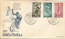FDC Spain Guinea Stamp day 1959 / cicling