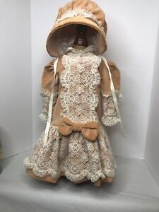 Antique Like Doll Dress And Bonnet For German Doll