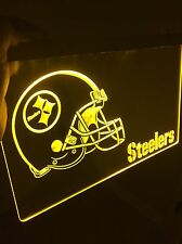 NFL Pittsburg STEELERS LED Light Sign for Game Room,Office,Bar,Man Cave, Decor.