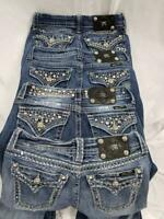 Lot of 4 Miss Me Womens 26 25 24 27 Boot Cut Wash Distressed Jeans Buckle Bling