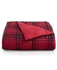 Martha Stewart TWIN/TWIN XL Comforter Essentials Reversible Plaid RED A02046
