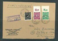 Gemeinschaftsausgaben Mi-Nr. 930 Oberrand usw. auf R-Brief - Schlegel BPP