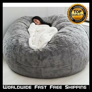 High Quality Bean Bag Chair Extra Large Sofa Cover 7ft Couch Seat Living Room