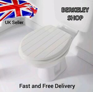 Addis Toilet Seat Wooden MDF Strong Chrome Hinges Loo Seats Fittings Included UK