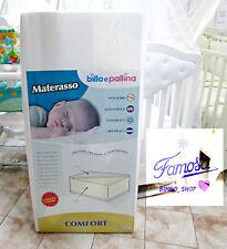 MATERASSO PER LETTINO BAMBINO CULLA BIMBO ANTISOFFOCO ORTOPEDICO ANALLERGICO