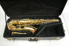 USED 1940 KING HN WHITE ZEPHYR TENOR SAXOPHONE WITH ENGRAVING
