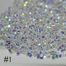 Fashion Wholesale Shiny 1.2mm Micro Tiny Clear Rhinestones Nail Arts Tips Decors
