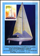 GRENADINES ST. Vincent 1988 sg#ms553 Ocean Racing Yacht Gomma integra, non linguellato HUNGARIAN M/S #d36344