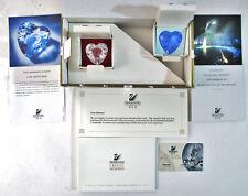 Swarovski Crystal Scs 1996 Clear Heart 1997 Blue Heart Membership Renewal Gifts