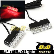 New EMIT Red Mini LED Rear Stop Blinker x2 For Honda Motorcycles Bikes